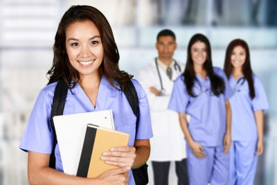 nursing student holding her some documents